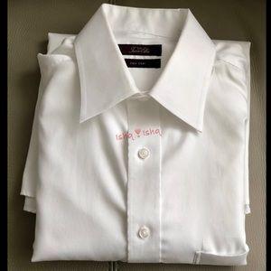 Tasso Elba Easy Care Dress Shirt Long Sleeve 15.5